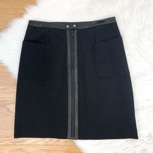 Joe Fresh Black A Line Skirt w Faux Leather {PM}